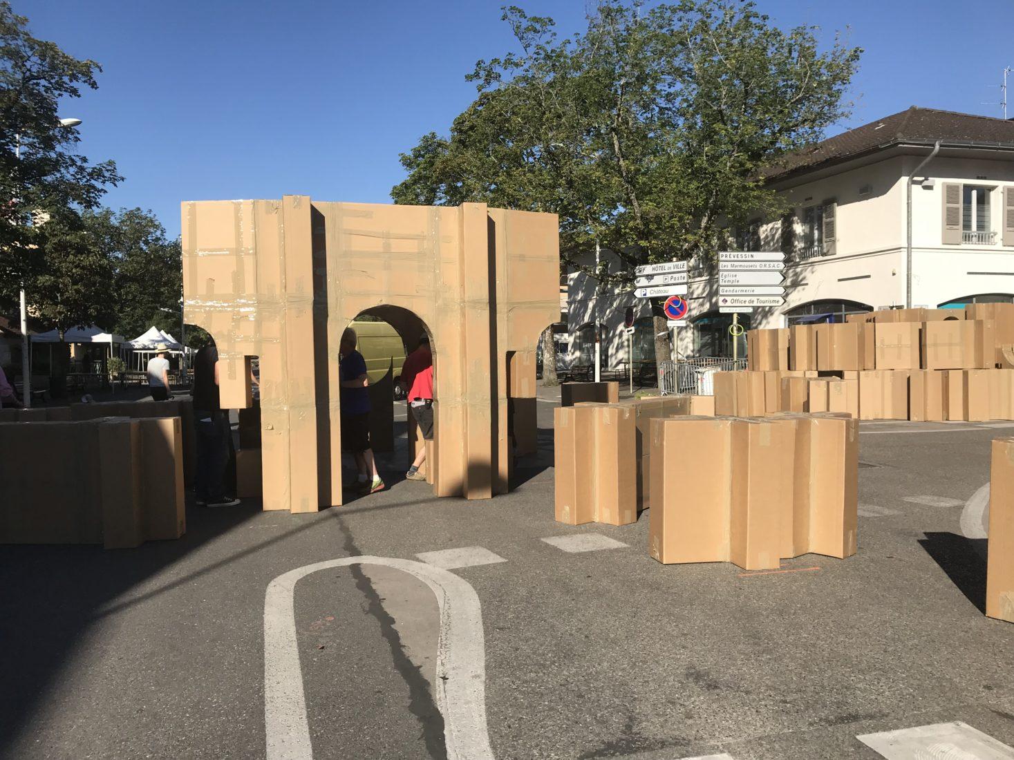 Fête à Ferney-Voltaire 2019 cartons montage du château