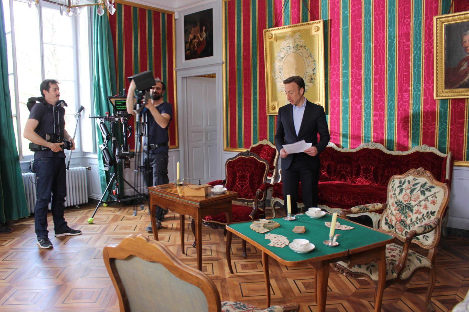 château de Ferney-Voltaire tournage avec Stéphane Bern