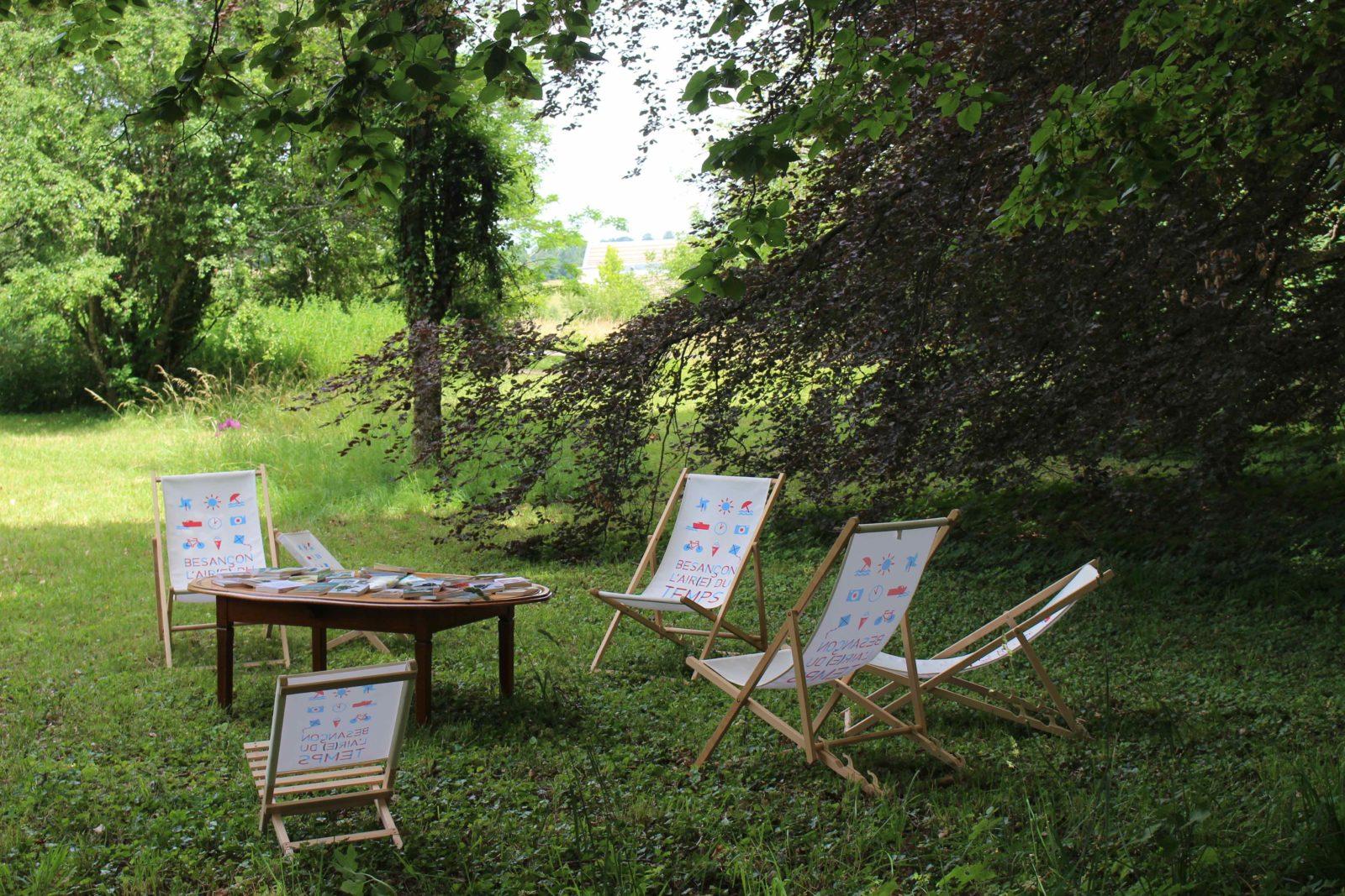 Monts-Boucons Besançon Colette chaises longues l'air(e) du temps