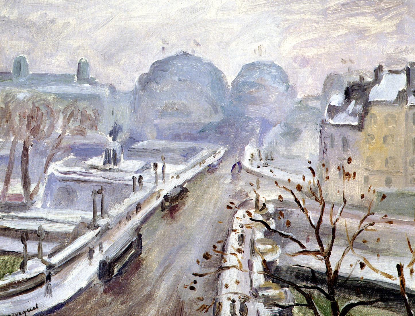 Le Cannet AlbertMarquet,Pont Neuf sous la neige,