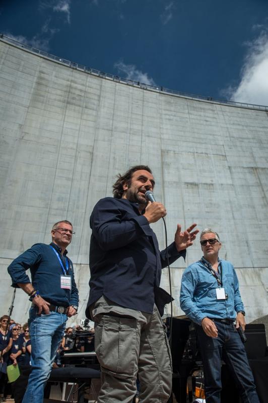 Cosmojazz Chamonix 2019 andré manoukian au barrage Emosson