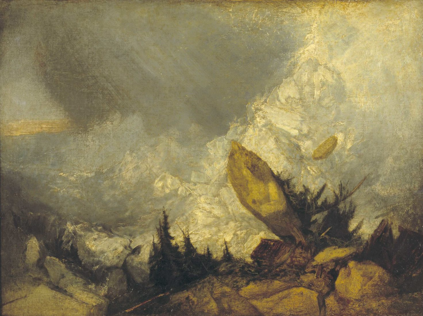 William Turner, The Fall of an Avalanche in the Grisons