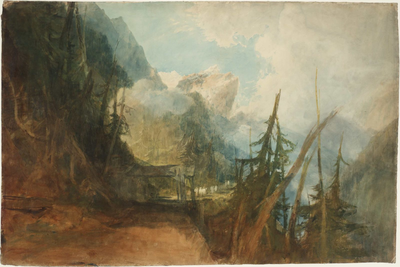 William Turner, The St Gotthard Road between Amsteg and Wassen