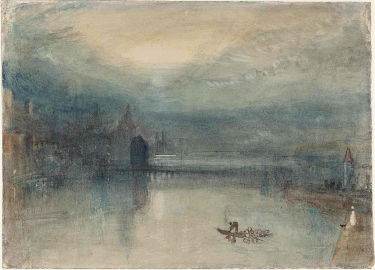 William Turner, Lucerne by Moonlight : Sample Study