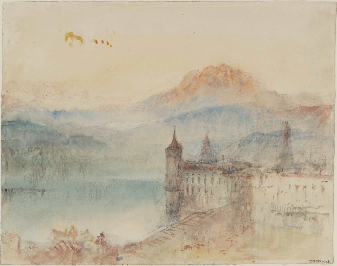 William Turner, Lucerne with Pilatus beyond