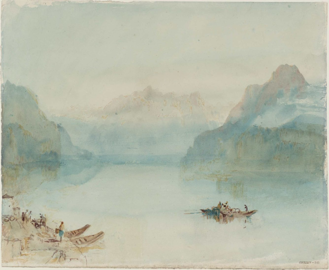 William Turner, Lake Lucerne: The Bay of Uri, from Brunnen