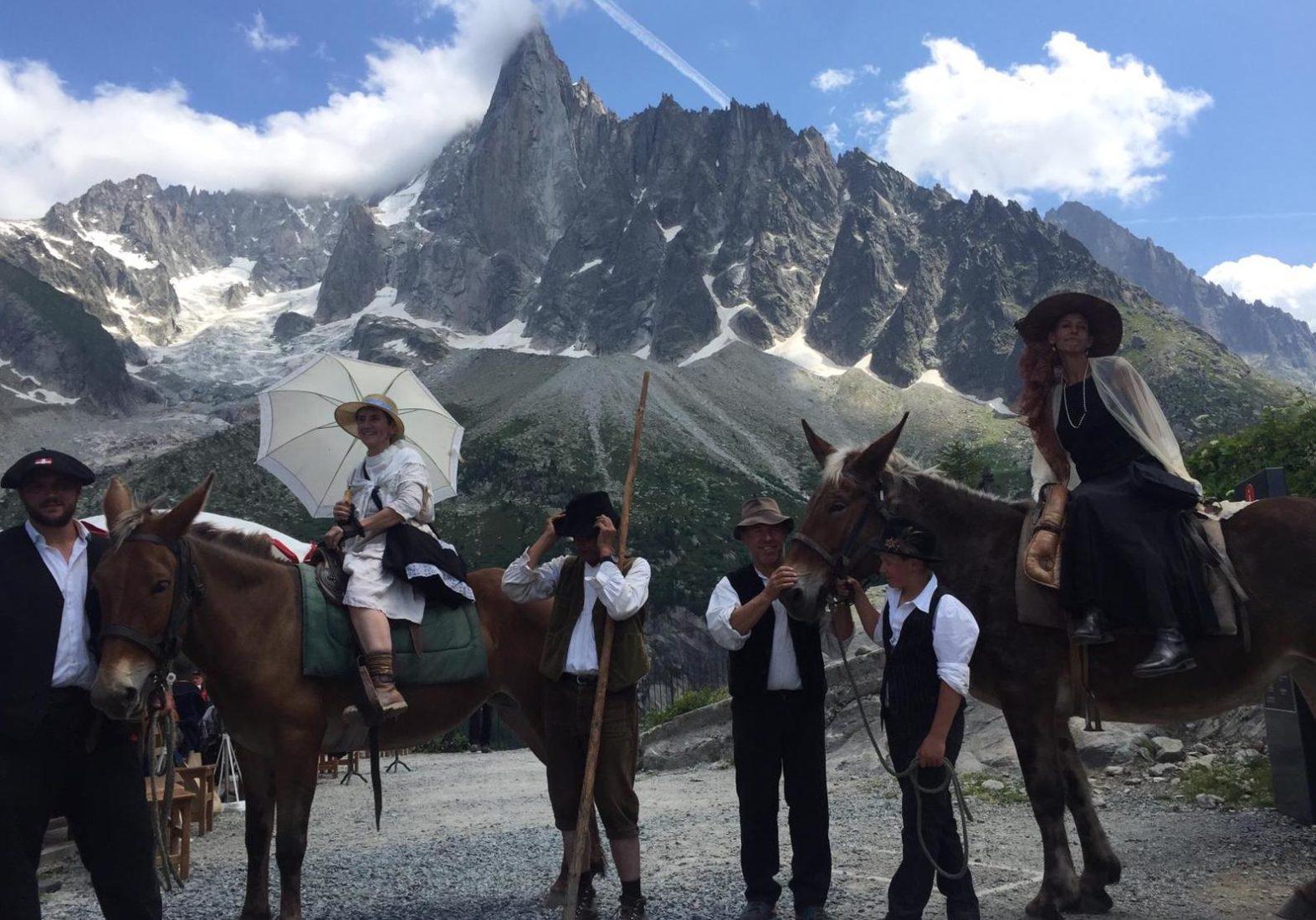 Chamonix fête mulets montenvers 110 ans