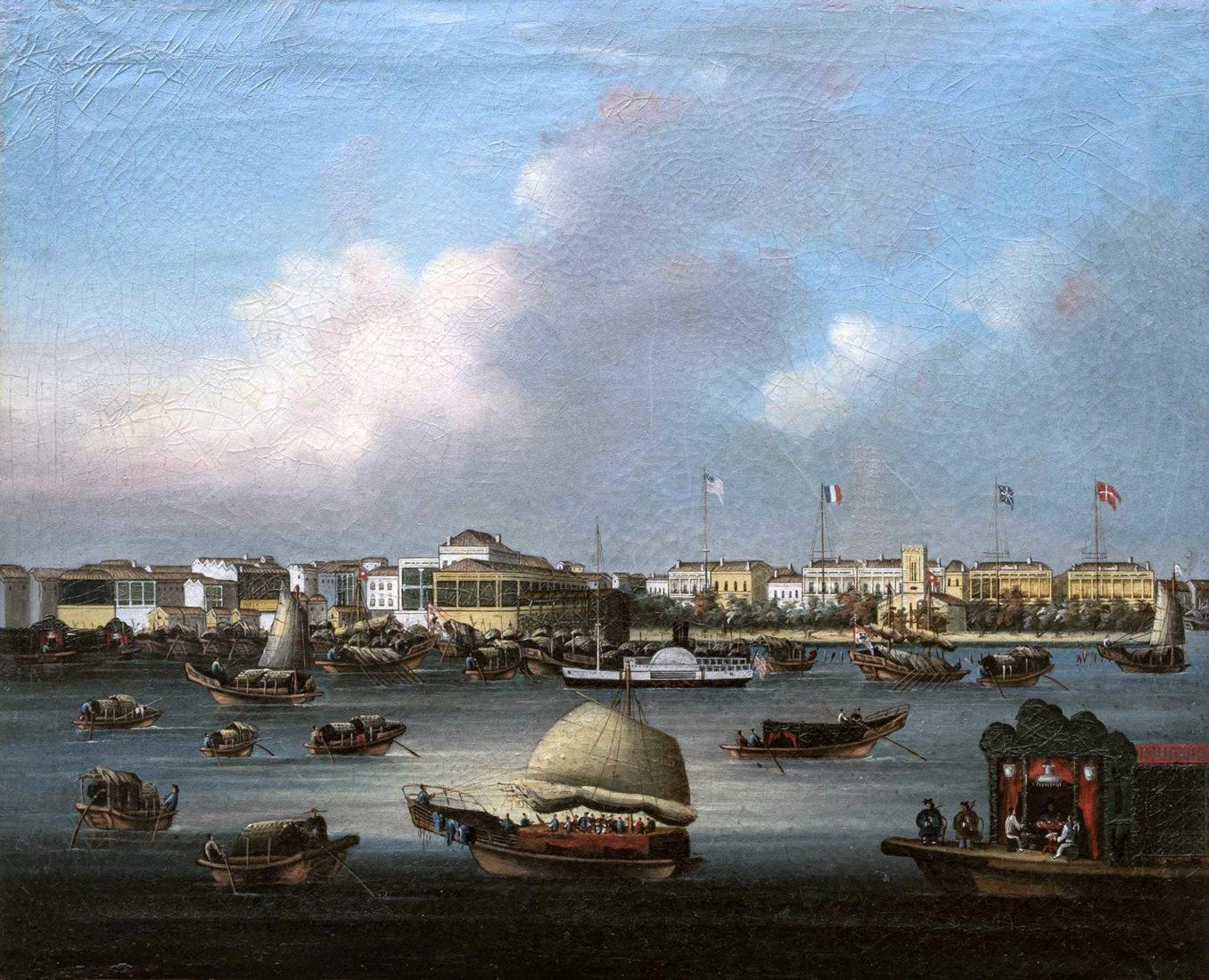 Les Factoreries de Canton entre 1848 et 1856.