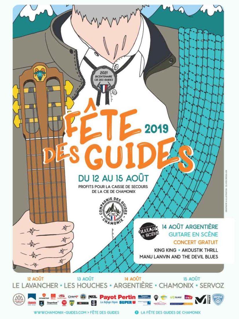 Chamonix affiche fête des guides 2019
