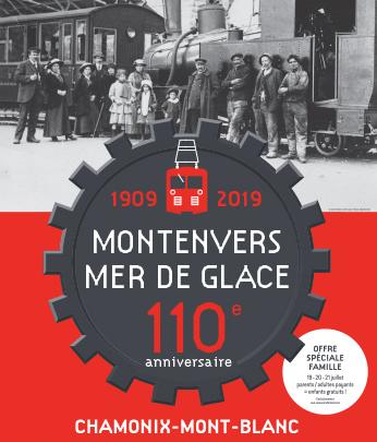 Chamonix affiche fête montenvers 110 ans
