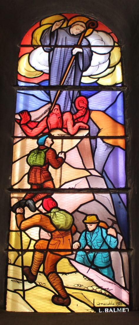 Chamonix vitrail église