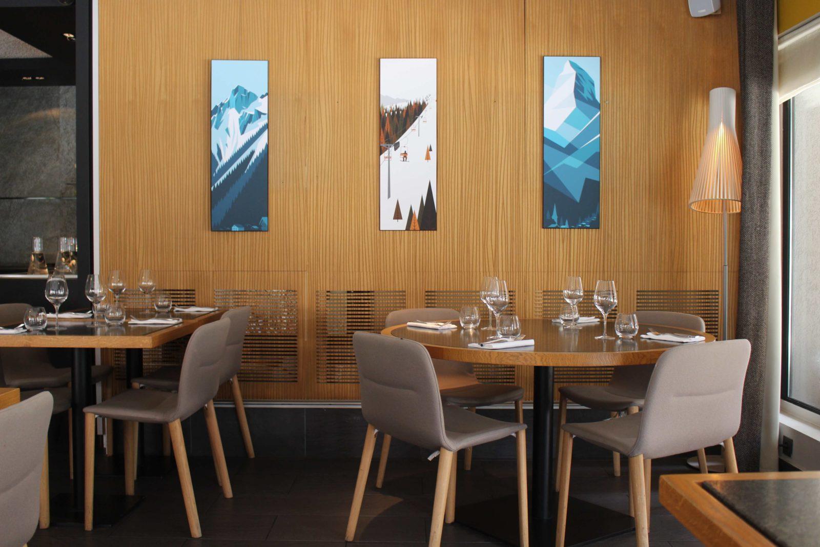 Le Comptoir Nordique Chamonix coin repas