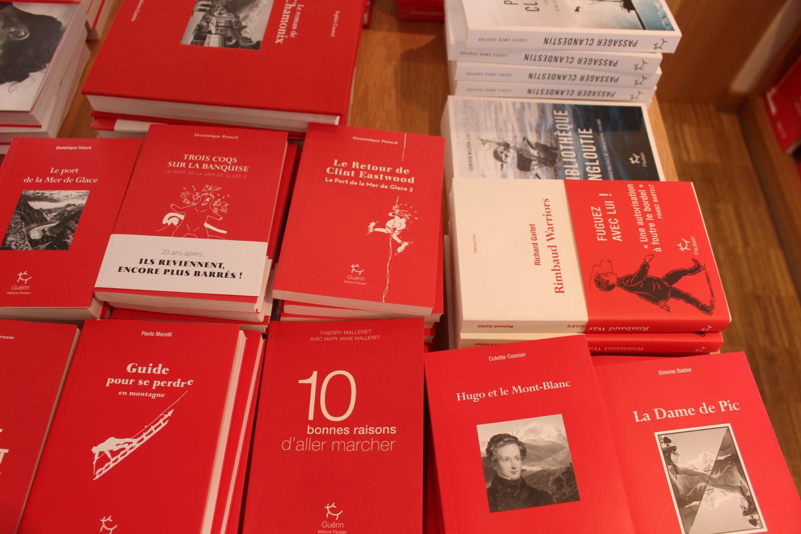 Chamonix livres rouges Guérin