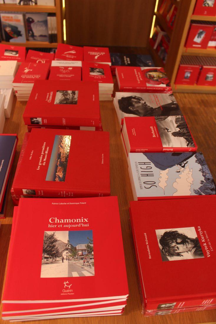 Chamonix Guérin table avec nouvelles parutions