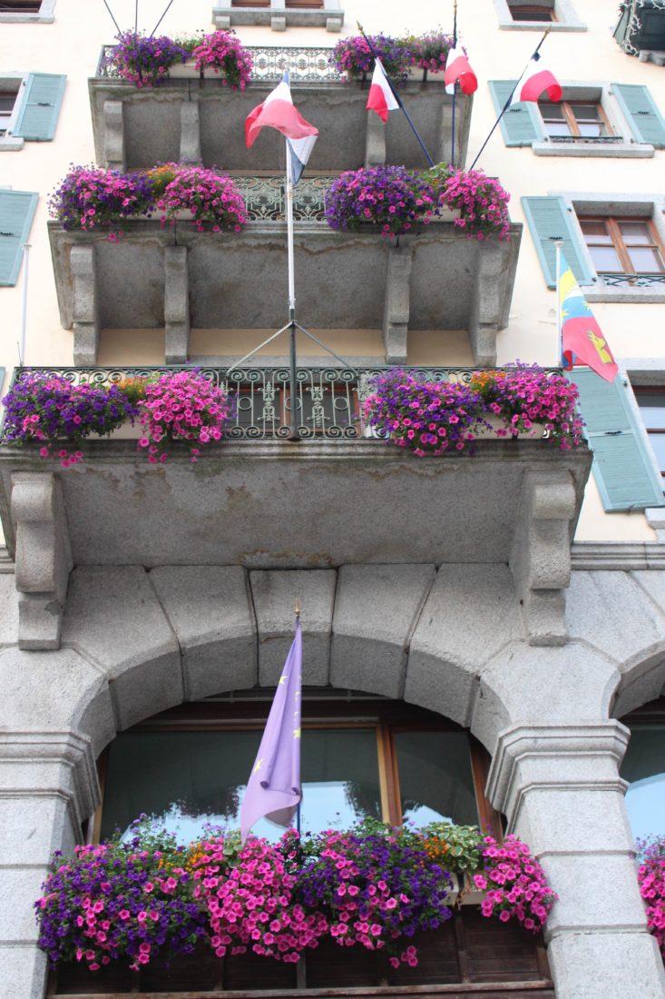 Chamonix mairie fleurie