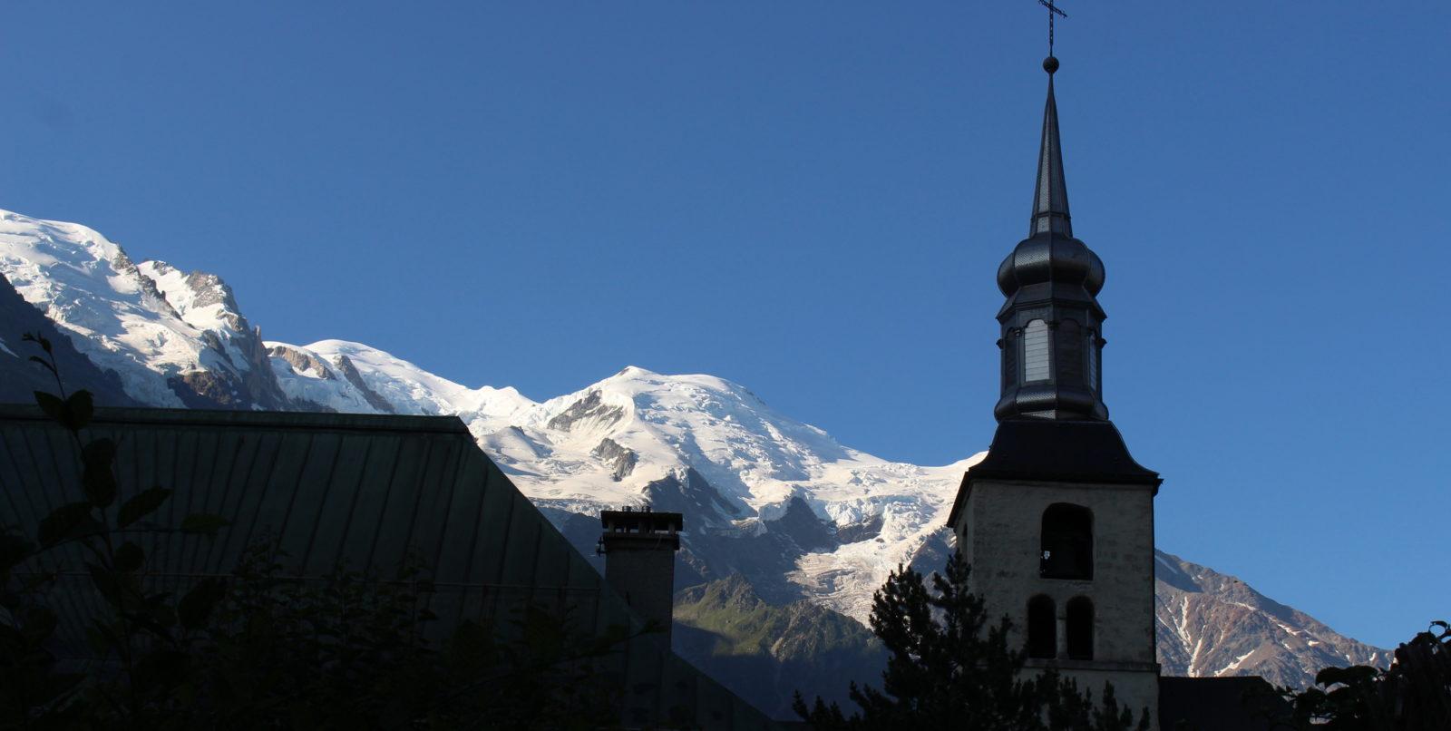 Chamonix clocher de l'église