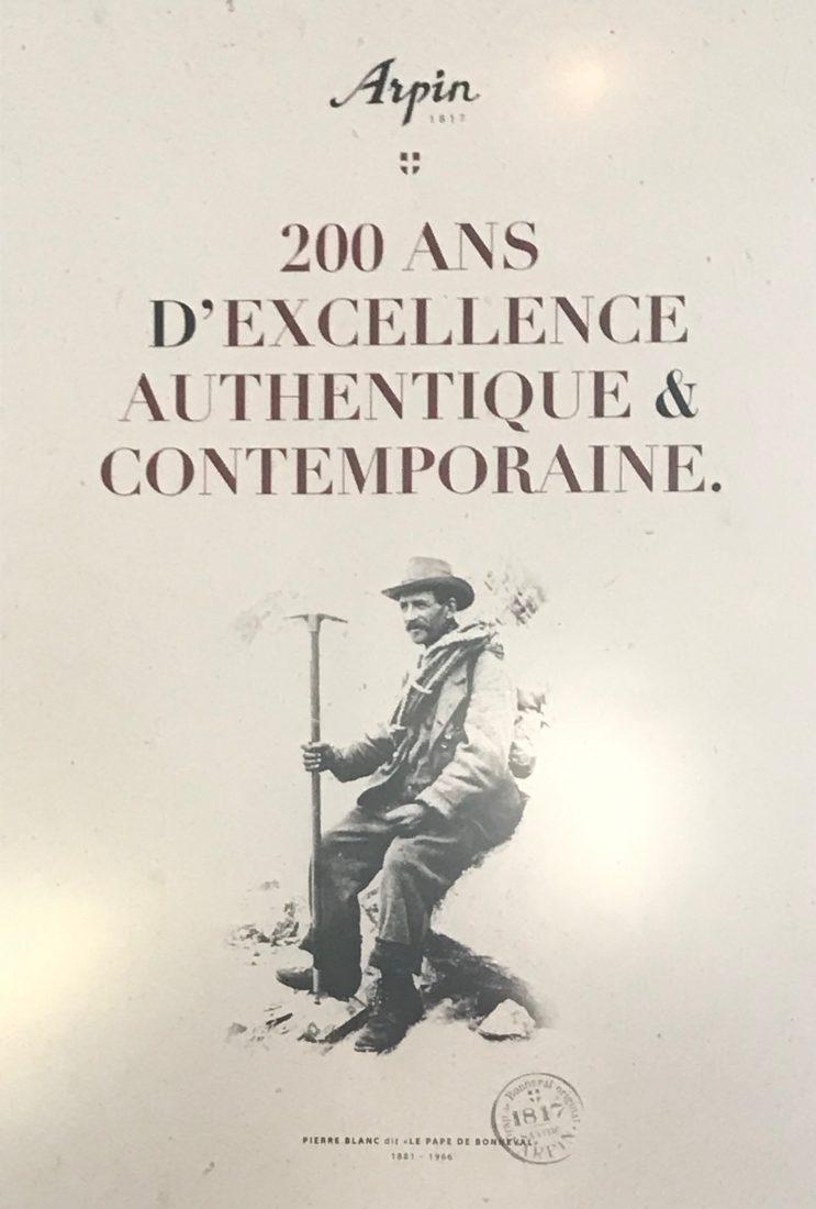 boutique Arpin Chamonix Pierre Blanc