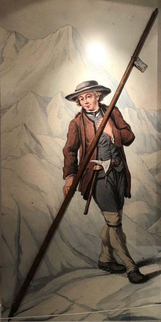 Chamonix exposition bâton jacques Balmat musée alpin