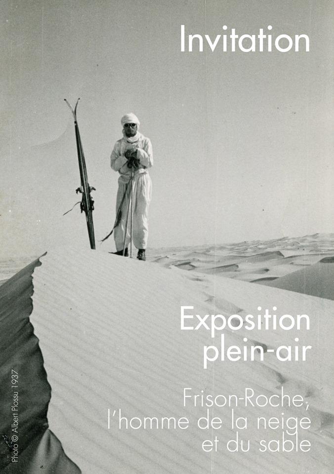 Chamonix affiche exposition Frison Roche