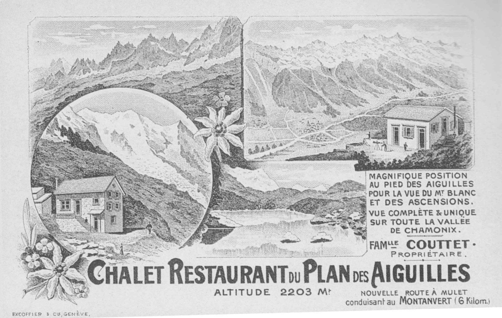 chalet refuge du Plan de l'Aiguille - carte ancienne
