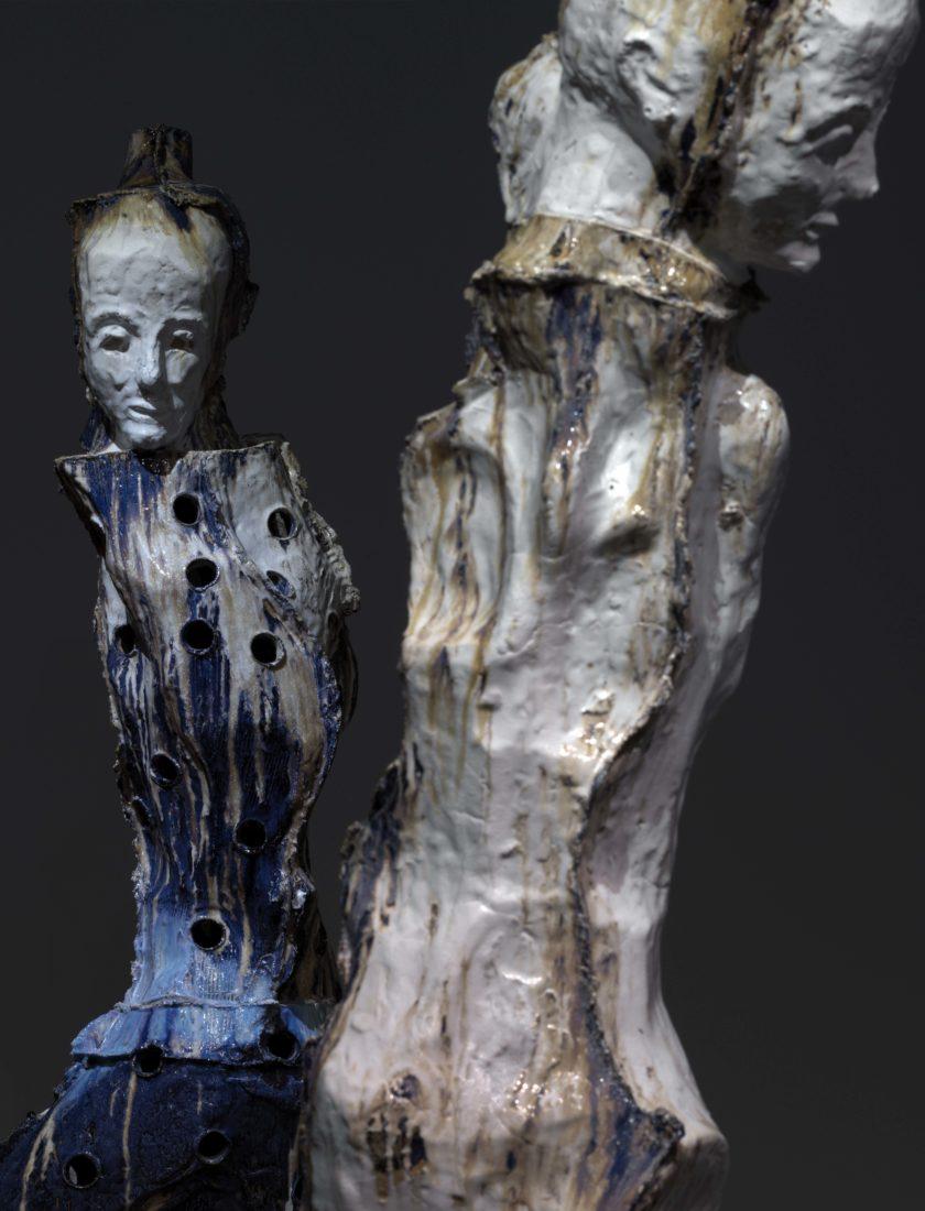 Johan Tahon Refuge/Silence Ariana 2 figures « Glacier Monk », 2019
