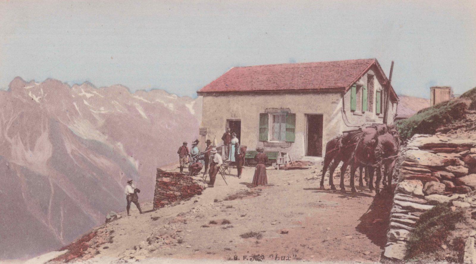 Refuge du Plan de l'Aiguille vue 1910