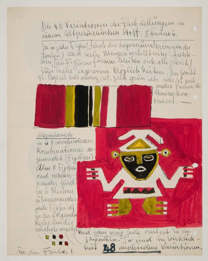 Johannes Itten Blatt aus Tagebuch VI