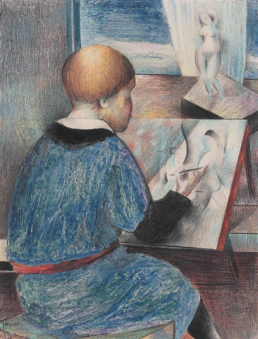Johannes Itten Zeichnender Junge