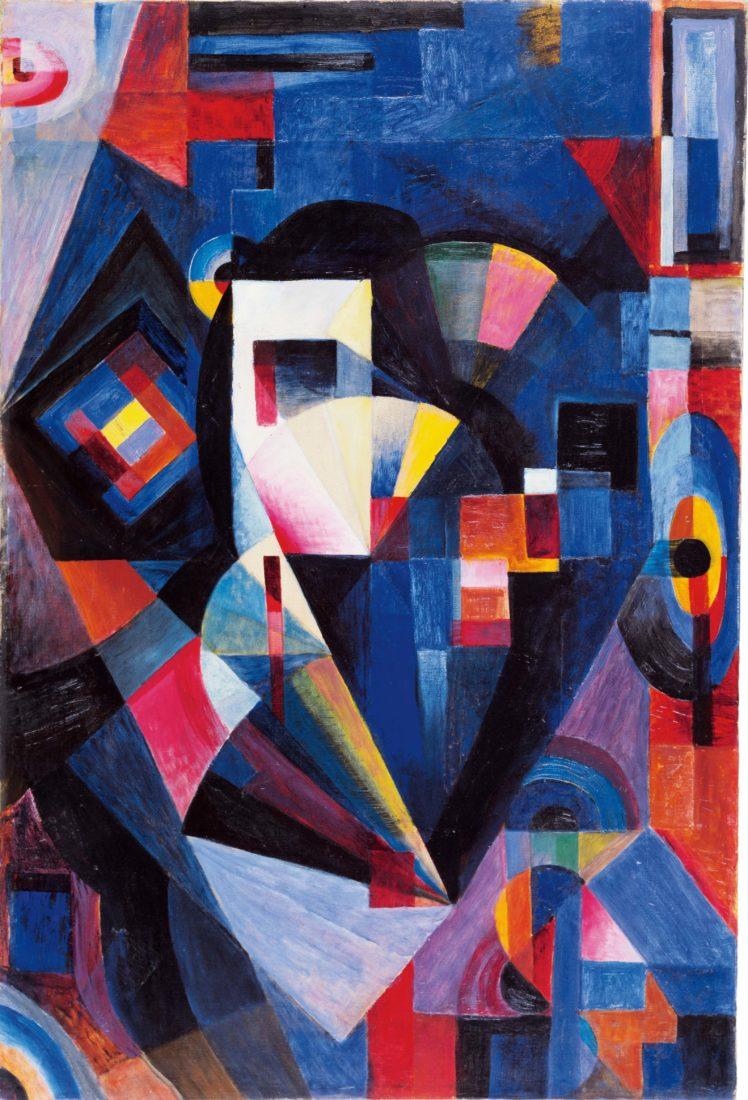 Johannes Itten Komposition in Blau