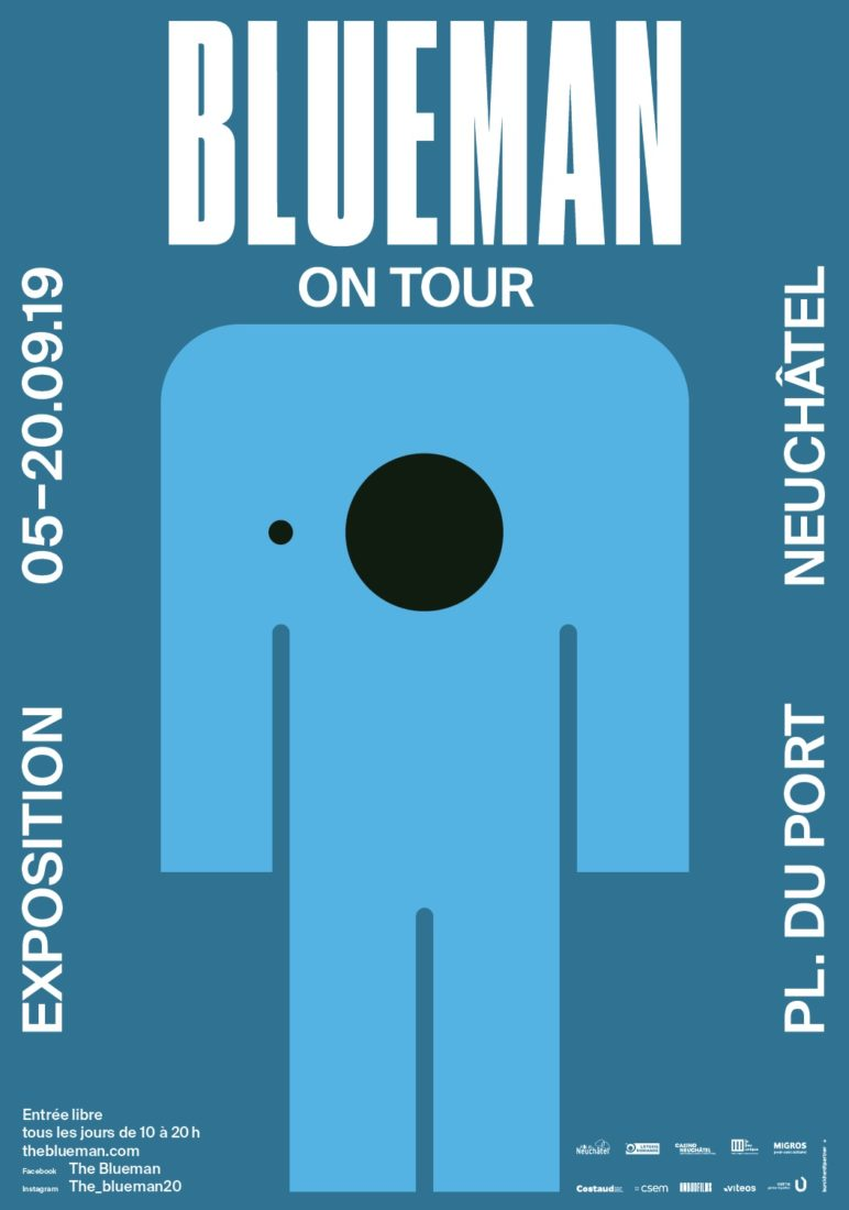 Blueman on tour affiche