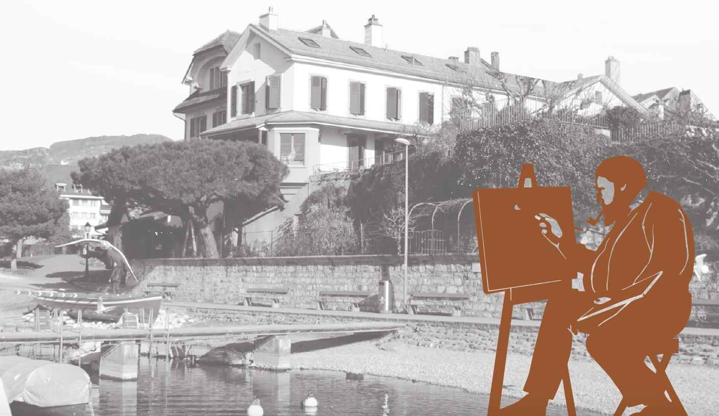 LA TOUR-DE-PEILZ sur les traces de Courbet villa Bon Port