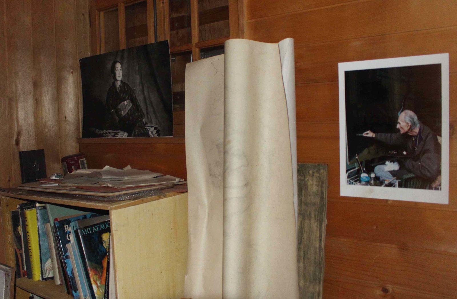 Atelier de Balthus Rossinière photo Setsuko