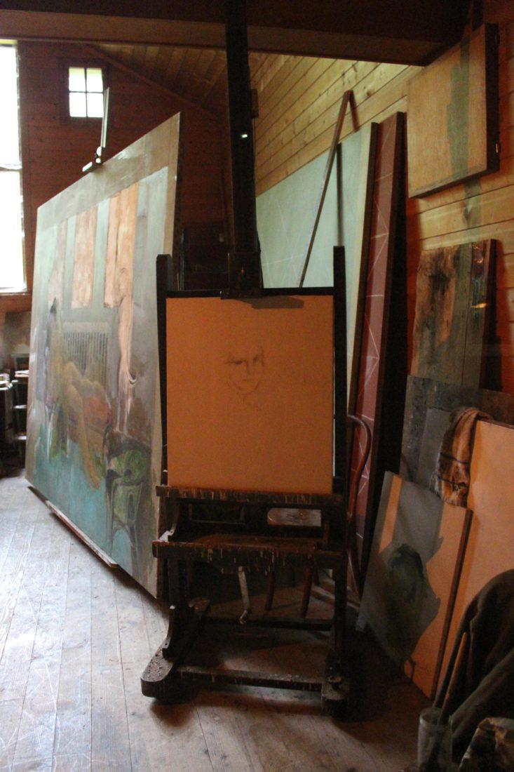 Atelier de Balthus Rossinière toiles inachevées