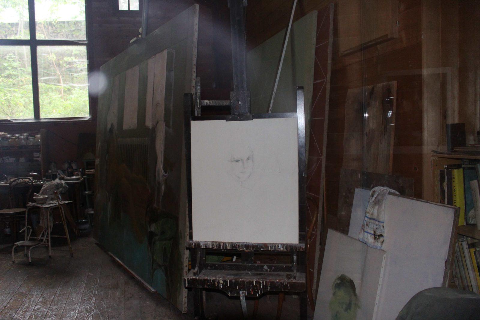 Atelier de Balthus Rossinière dessin inachevé
