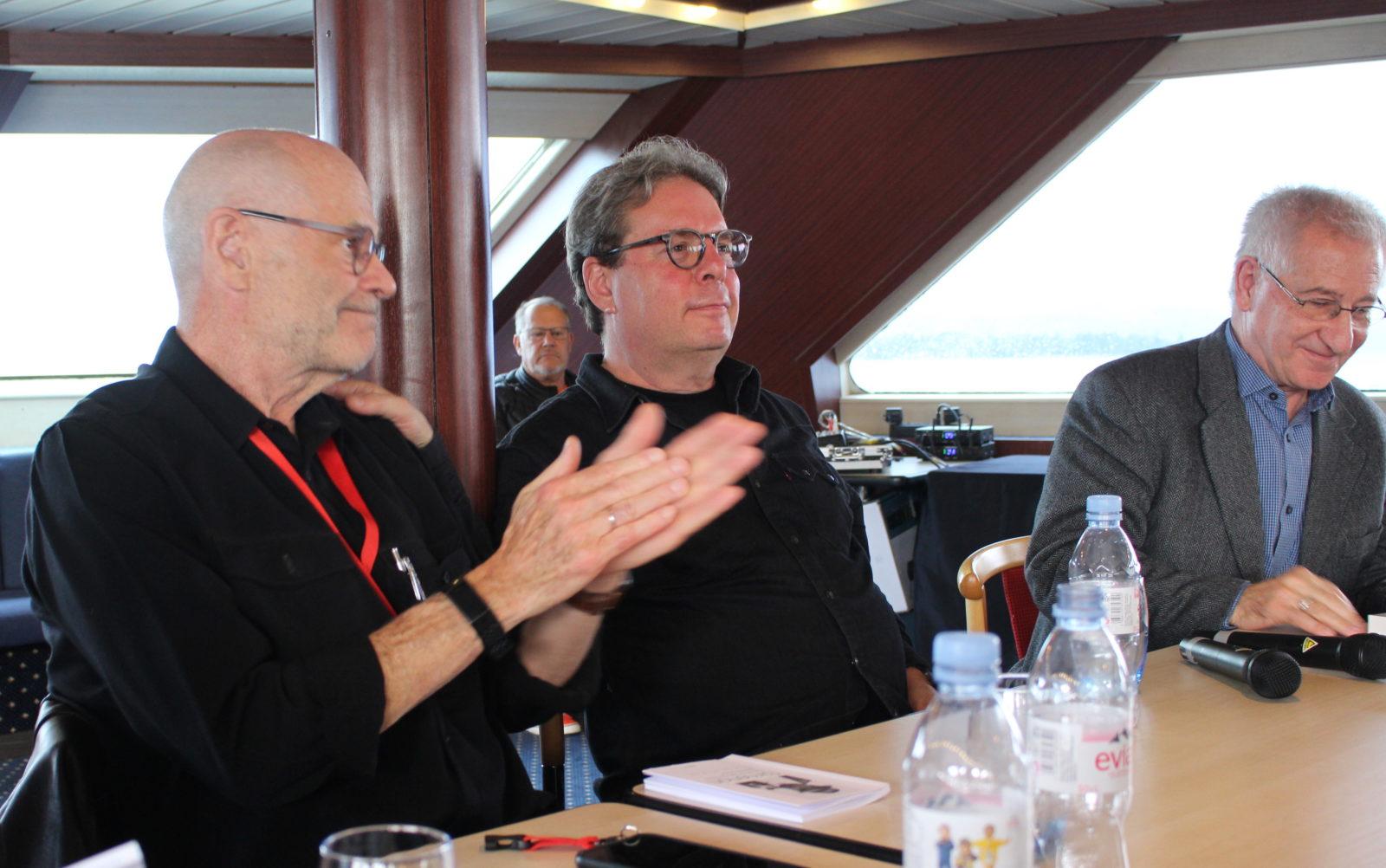 Conférence John Simenon, Douglas Kennedy, Laurent Fourcaut LSQ 2019