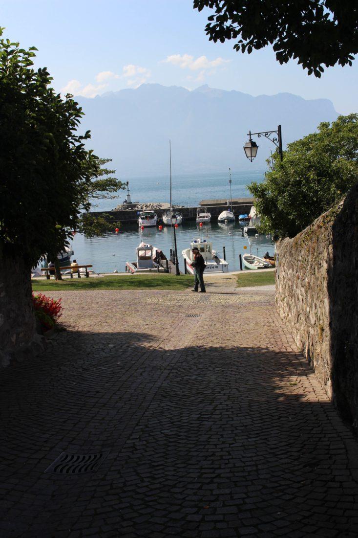 LA TOUR-DE-PEILZ Courbet sentier didactique vue port