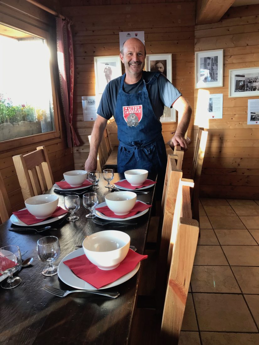 refuge du Plan de l'Aiguille - Claude le cuisiner et gardien du refuge