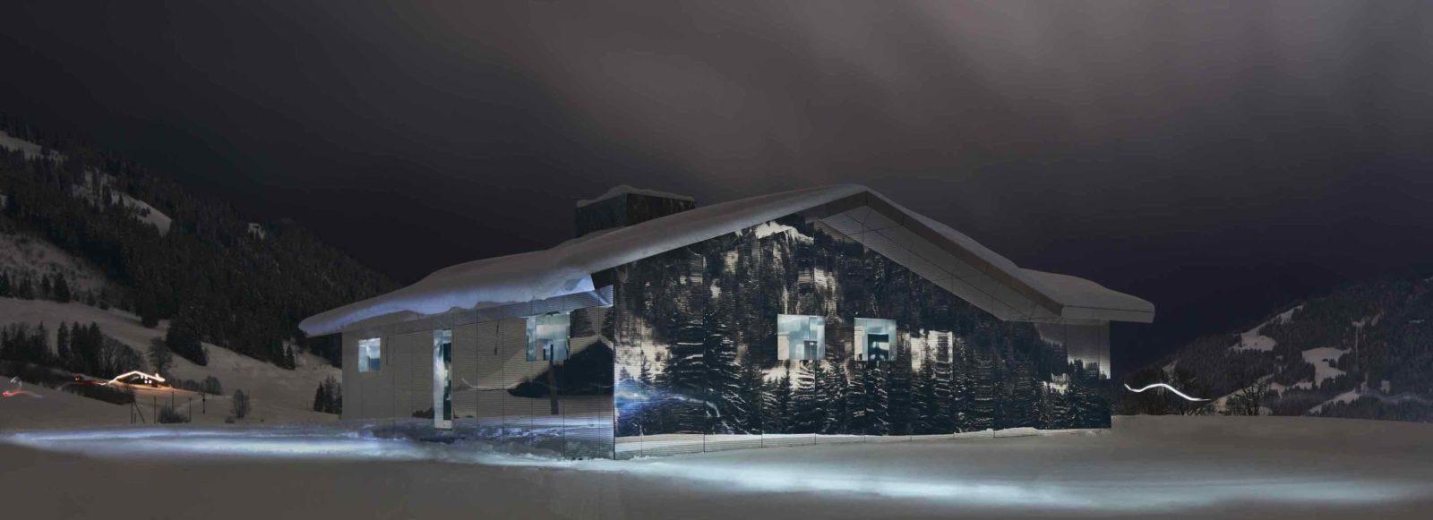 Mirage Gstaad Doug Aitken nuit