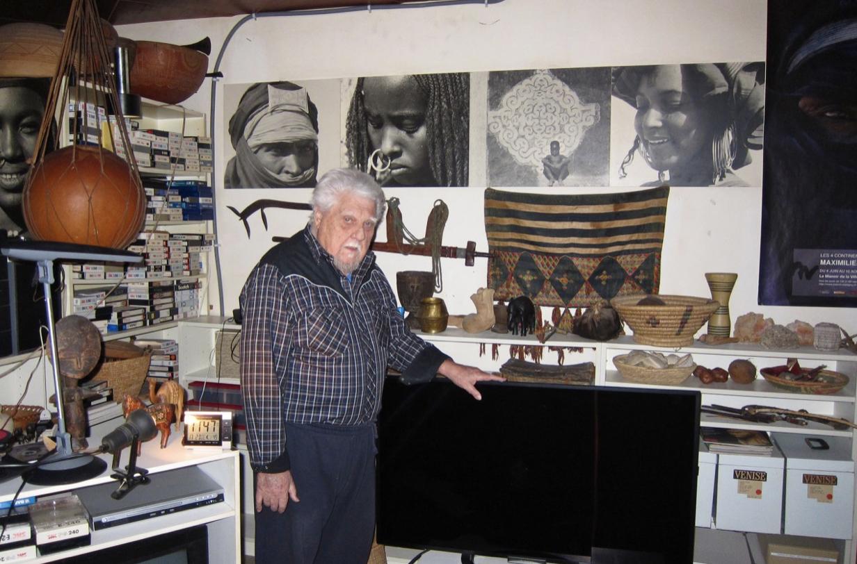 Maximilien Bruggmann chez lui à Yverdon