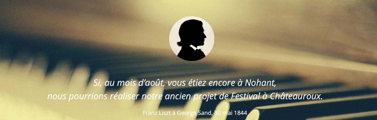 Lisztomanias de Châteauroux 2019 Phrase de George Sand