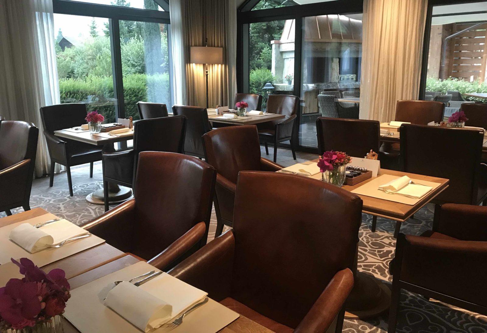 restaurant, Alpina Gstaad