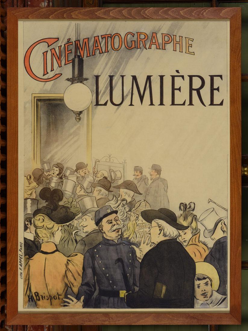 Exposition Lumière 2e affiche Cinématographe par Auzolle 1896