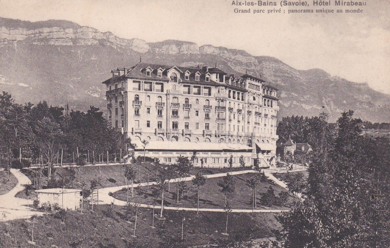 AIx-les-Bains, Hôtel Mirabeau en 1910