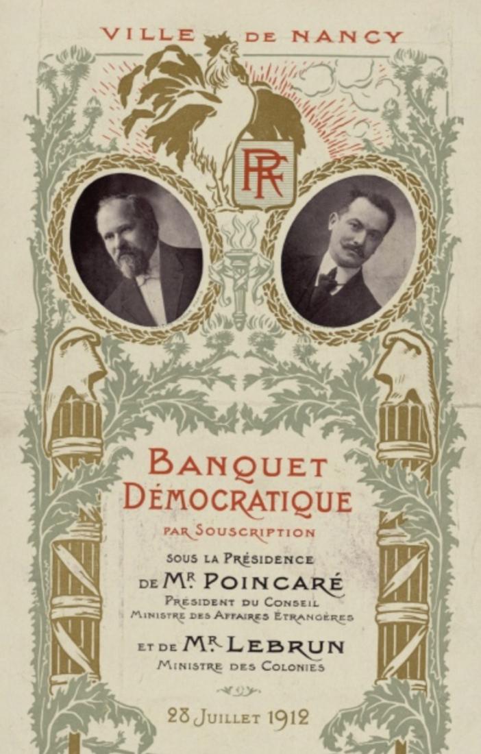 Archives municipales de Dijon menu Nancy 1912