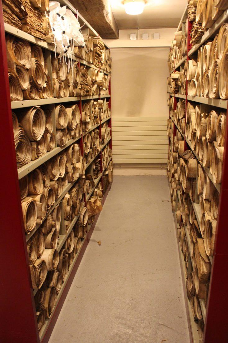 Archives départementales Côte-d'Or rouleaux