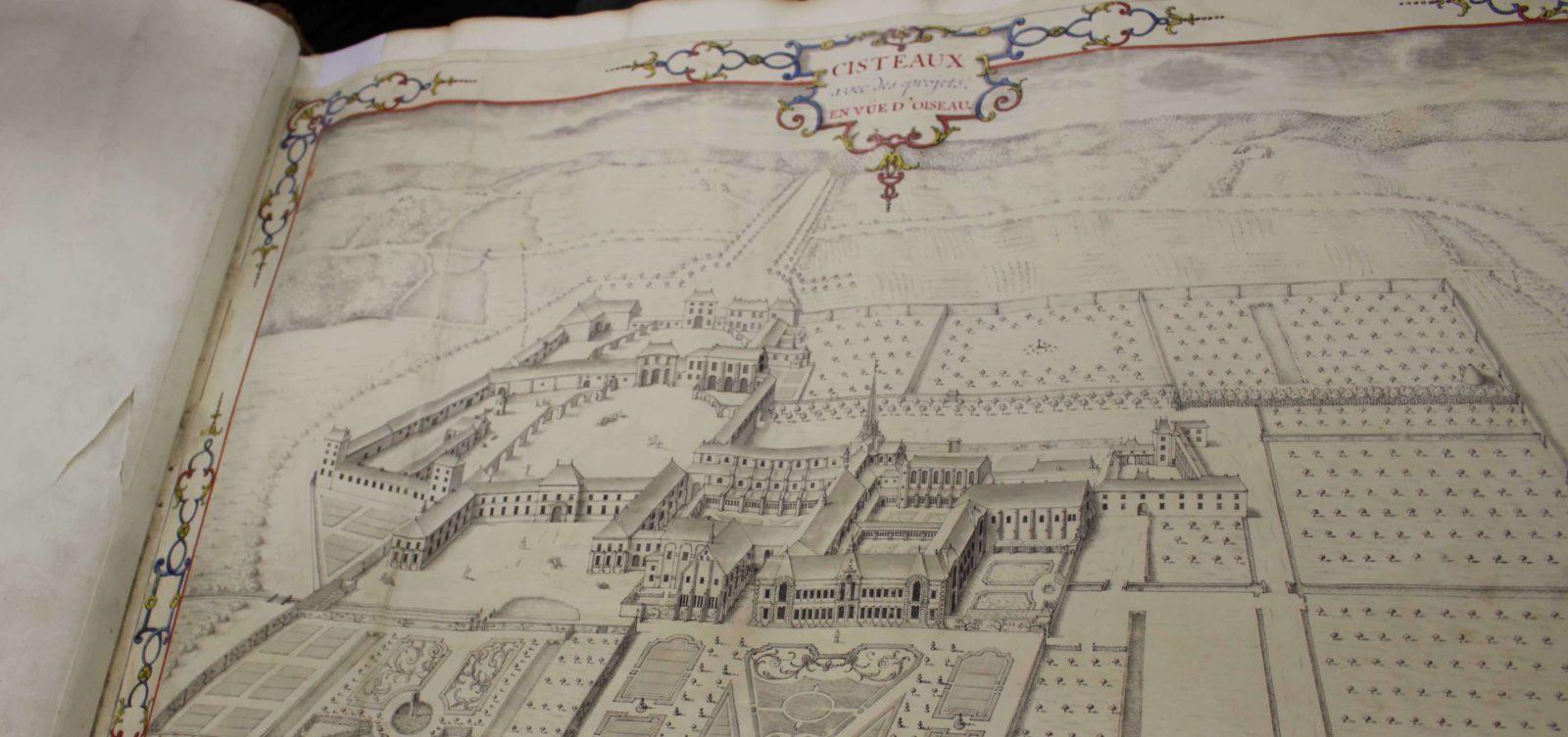 Archives départementales Côte-d'Or Atlas de Citeaux