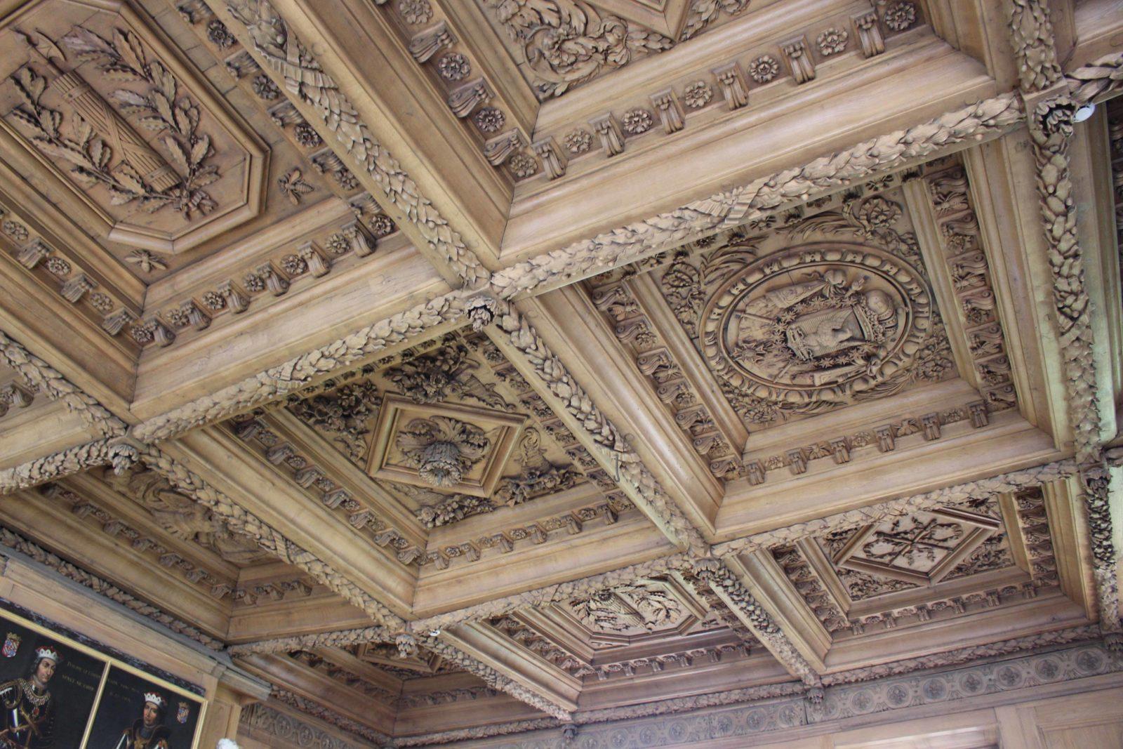Archives départementales Côte-d'Or Salle de lecture plafond