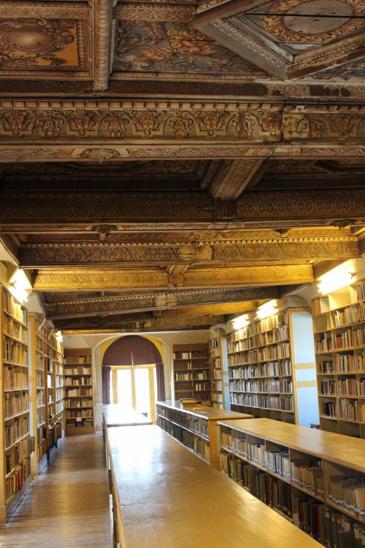 Archives municipales de Dijon plafond bois peint