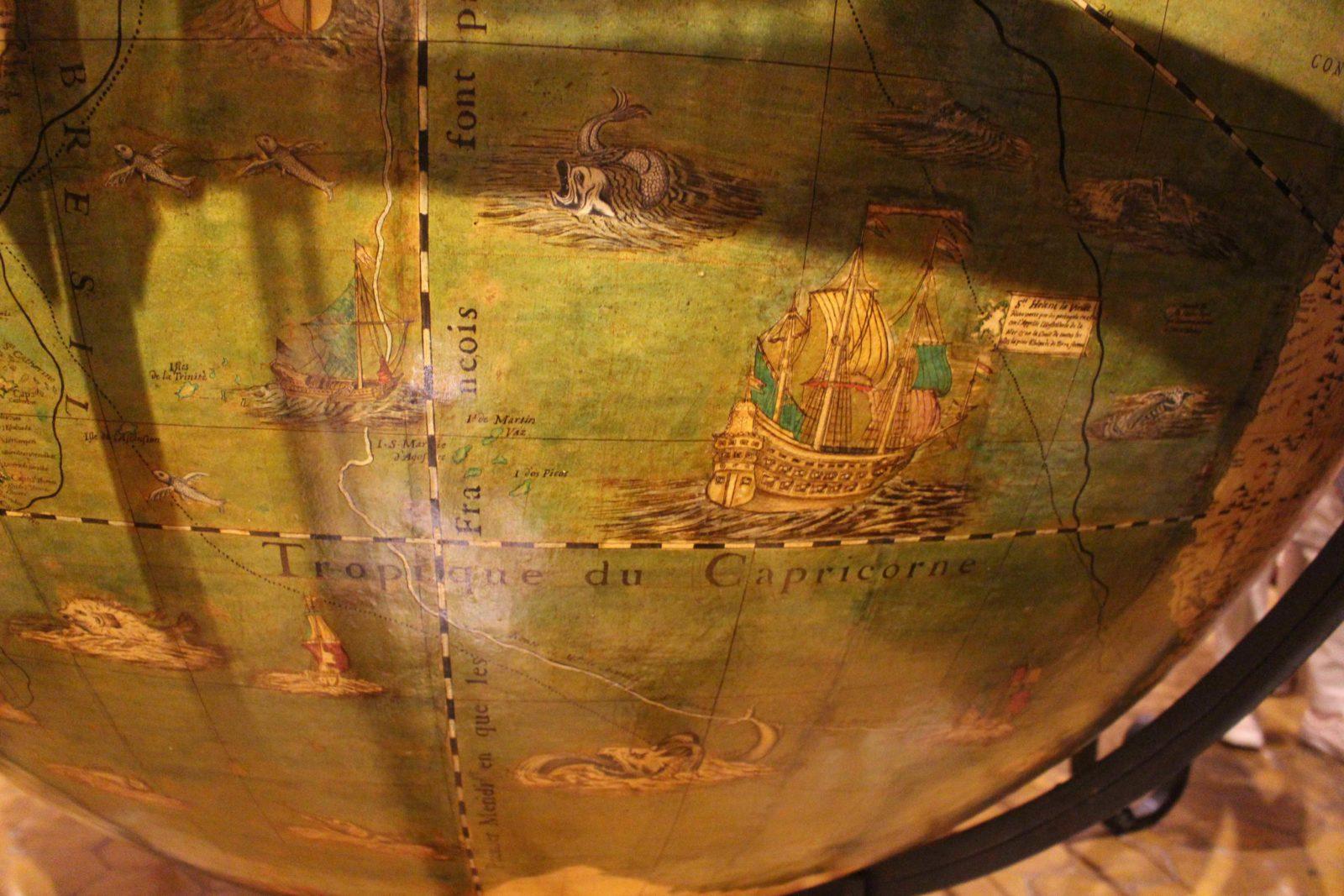 Archives municipales de Dijon globe terrestre - détail