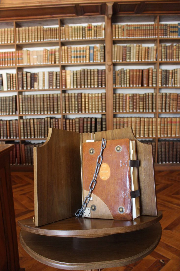 Archives municipales de Dijon rangées de livres